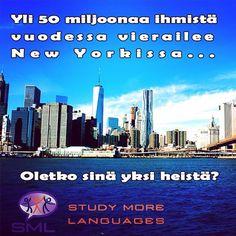 Oletko sinä yksi 50 miljoonasta vierailijasta tänä vuonna? Lisäinformaatiota englannin kielen kursseista New Yorkissa saat klikkamalla linkkiä biossamme.  http://www.studymorelanguages.fi/usa-ja-kanada/    #SMLMatka #nyc #usa #Kielimatka #suomi #finnishgirl #finnishboy #travel #newyork #city