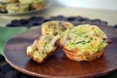 Zucchini-Bacon Egg Muffins #glutenfree
