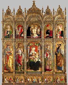 576. Carlo Crivelli - Polittico di Sant'Emidio - 1473 -  Ascoli Piceno, Cattedrale di Sant'Emidio