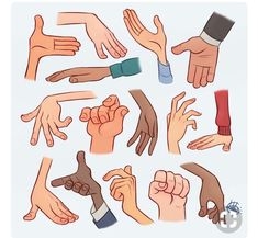 Easy styles of hands to draw