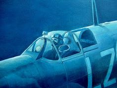 Spitfire Pilot (Oils single colour experiment)