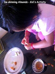 De-skinning Soaked Almonds - Kid's Activity