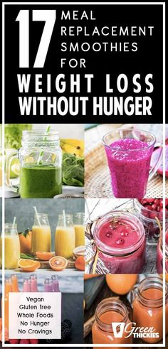 These meal replacement smoothies are all calorie counted and the ingredients are chosen for weight loss. And best of all, these smoothies are so filling that you can easily lose weight without going hungry.Just replace your breakfast and your lunch with o Weight Loss Meals, Weight Loss Drinks, Weight Loss Smoothies, Losing Weight, Weight Gain, Shakes For Weight Loss, Best Diet Plan For Weight Loss, Breakfast Smoothies For Weight Loss, Weight Loss Challenge