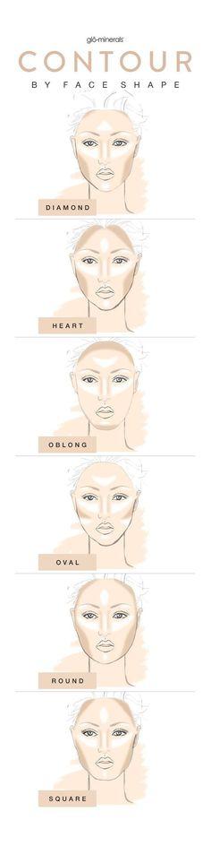 contour makeup face shape How to Contour & Highlight for Every Face Shape | Gl