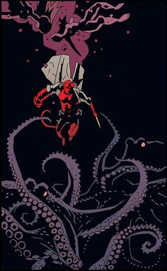 Hellboy by Mike Mignola I cannot express enough love for Mignola's art