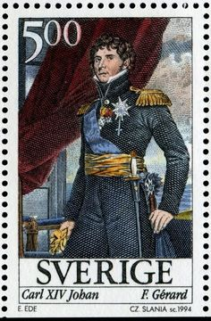 "Sweden 5kr 1994 ""Jean Baptiste Bernadotte, Maréchal du France"", Czeslaw Slania sc."