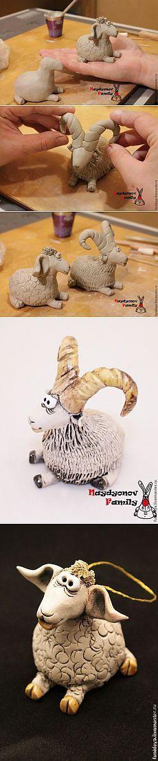 """Новогодний мастер-класс """"Коза и овечка"""" / Я - суперпупер"""