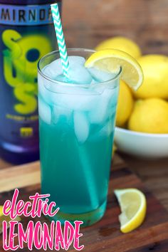 Sharing a fun cocktail with you to celebrate #NationalVodkaDay with this Electric Lemonade featuring Smirnoff Sours Lemon Berry [AD]