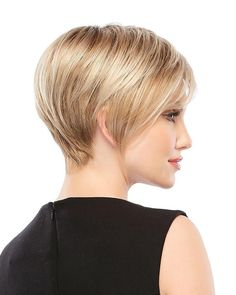 The Petite Natalie by Jon Renau has ultra flattering facial framing of a modern bob. This short, straight style looks great on everyone and features easy-to-wear O'solite construction. Cute Pixie Haircuts, Layered Bob Hairstyles, Short Bob Haircuts, Pixie Hairstyles, Easy Hairstyles, Straight Hairstyles, Shortish Hairstyles, Hairstyle Ideas, Hairstyles 2016