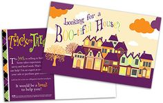Looking for a Halloween #postcard with a call to action specific to real estate? Look now further. It's the perfect way to generate leads with the light hearted tone of Halloween #marketing #realestate