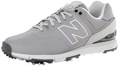 These 11.3 oz mens nbg574 spiked golf shoes by New Balance feature premium  waterproof microfiber leather 7ca95e7c6c7