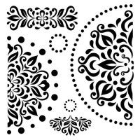 "Маска ""Узор-салфетка"" Laser Cut Patterns, Stencil Patterns, Stencil Designs, Paint Designs, Stencil Wood, Stencil Art, Arabesque, Mandala Art Lesson, Glass Painting Designs"