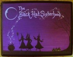 Primitive witch painting Black Hat Sisterhood witches sisters witchcraft wiccan #NaivePrimitive #artist