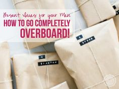 Present Ideas for your Man. How to go Completely Overboard! - Happily Ever After, Etc. Gifts For Husband, Gifts For Him, Homemade Gifts, Diy Gifts, Cute Gifts, Great Gifts, Your Man, Married Life, 40th Birthday