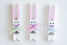 Making DIY Easter decorations is a fun way to add some bright colors and cute bunnies to your family's holiday celebration. If you're looking for DIY Easter decorations for your house, check out these ideas to get you started! Easter Crafts To Make, Fun Diy Crafts, Crafts For Kids To Make, Easter Crafts For Kids, How To Make, Rabbit Crafts, Bunny Crafts, Clothes Pegg Crafts, Crafts With Clothes Pins