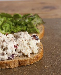 Chicken Salad with Greek Yogurt.  I altered it a bit...used some onion, celery salt, dash of pickle juice, red grapes. YUM