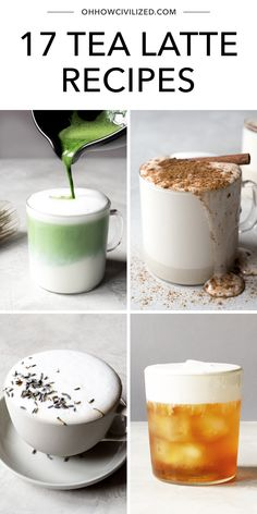 See how to make delicious tea lattes at home from Oh, How Civilized. Get the basic tea latte formula plus tips, tricks, and tea latte recipes from chai to chamomile. Tea Recipes, Drink Recipes, Cooking Recipes, Healthy Recipes, My Dessert, Dessert Drinks, How To Make Latte, English Breakfast Tea, Latte Recipe