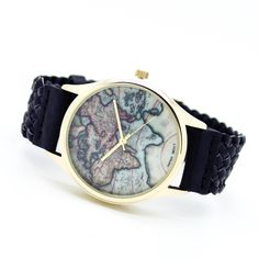 World map watch (4 colors) – Imsmistyle.