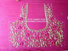 Best Blouse Designs, Bridal Blouse Designs, Blouse Neck Designs, Zardosi Embroidery, Embroidery Motifs, Machine Embroidery Designs, Hand Designs, Flower Designs, Maggam Work Designs