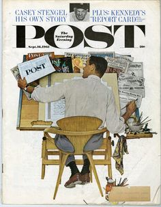 The Saturday Evening Post was redesigned in 1961 by Herb Lubalin
