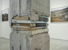 """""""We're stronger in the places that we've been broken."""" - Ernest Hemingway / featured artwork by Peruvian artist Ishmael Randall-Weeks, installation view at Arróniz Arte Contemporáneo in Mexico. Ravenclaw, Art Conceptual, Street Art, Street Style, Bokashi, Kintsugi, Oeuvre D'art, Les Oeuvres, Book Art"""