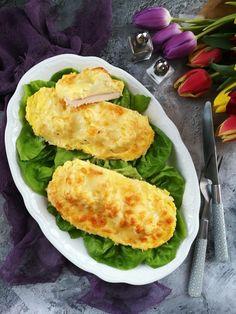 Sonkás-karfiolos-tojáskrémes csirkemell recept