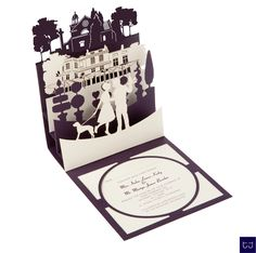 amazing pop up wedding invitation - capturing 2 london venues where wedding was