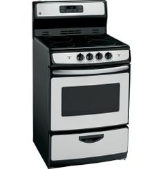 "GE® JAP02SNSS 24"" Self Clean Free-Standing Electric Range Stainless ""Out of Box"" #GE"