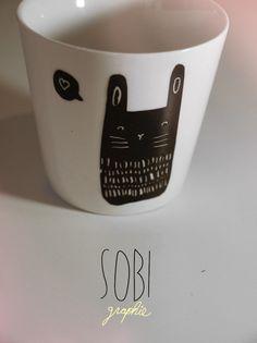 Cup / Black-Bunny / Sobi ♥