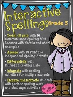 This year-long resource is packed with Common Core spelling lessons, activities, games, and much much more!!  Teach spelling/word work in a new way with this differentiated spelling resource!! ($)