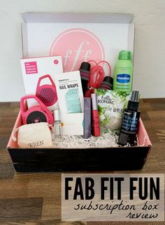 The FabFitFun box comes once each season and is packing full with awesome, full-sized products!
