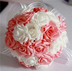 A perfectly beautiful bouquet for an adult version of a pink and white wedding.