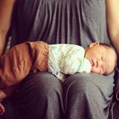 baby Miles on mama's lap