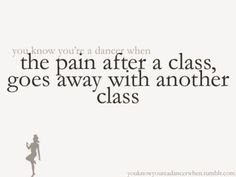 the pain after a class goes away with another class