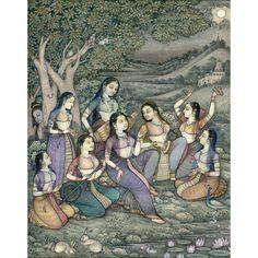 Indian Art Paintings, Happy Paintings, Krishna Art, Radhe Krishna, India Painting, Krishna Pictures, Religious Art, Tribal Art, Miniature Paintings