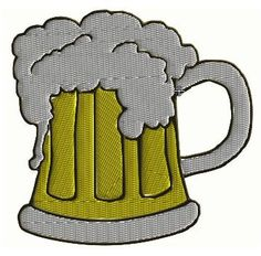 Beer Mug Machine Embroidery Design by CraftyJacky on Etsy, $1.99