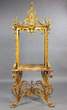 232: AN OPULENT GILT IRON BAROQUE STYLE VITRINE : Lot 232