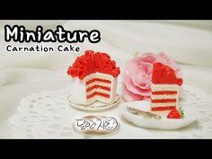 미니어쳐 카네이션 케이크 만들기 Miniature * Carnation Cake - YouTube