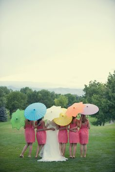 cute pic with bridesmaids