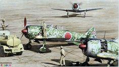 "December 1943, Japan: Nakajima Ki-44, known with the nickname of ""Shōki"" (Hero of the Japanese mithology), Allied codename ""Tojo"", at the Army Flying School of Akeno."