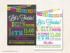 Fiesta Girl Birthday Invitations - Chalkboard Mexican Fiesta Birthday Party - Poster Style Kids Invitations Printable on Etsy, $15.00