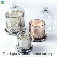 glass bell jar candle holder yufengcraft