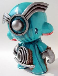 Art Nouveau and Art Deco, Doktor A, Dieselpunk Inspired Custom Vinyl Figure