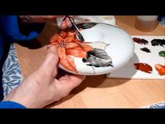 porcelain painting part 2 - YouTube