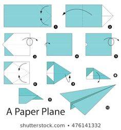 Step by step instructions how to make origami A Plane. Origami Ball, Diy Origami, Easy Oragami, Origami Dog, Origami Paper Plane, Origami Cube, How To Make Origami, Modular Origami, Paper Crafts Origami