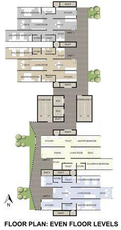 GA Designs Radical Shipping Container Skyscraper for Mumbai Slum,Even Floor Plan. Image Courtesy of GA Design