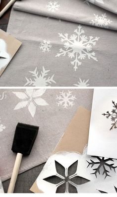 Snowflake Table Runner | Click Pic for 18 DIY Christmas Table Centerpiece Ideas | DIY Christmas Table Decoration Ideas