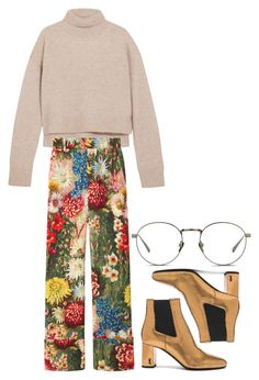"""#291"" by jel1ica ❤ liked on Polyvore featuring Yves Saint Laurent, Rejina Pyo, Gucci and Linda Farrow"