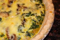 of pie low carb artichoke kale and ricotta pie with eggs and parmesan ...