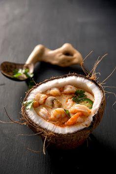 coconut shrimp soup,soup with shrimp,